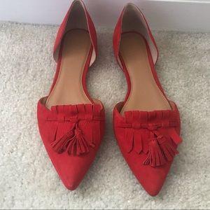 Red JCrew loafer sz 8